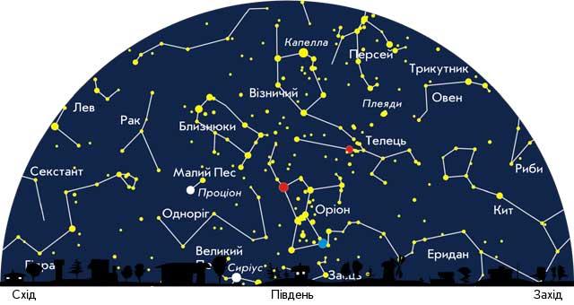 Путівник зоряним небом: що можна побачити вночі у лютому - зорі - 02 nebo