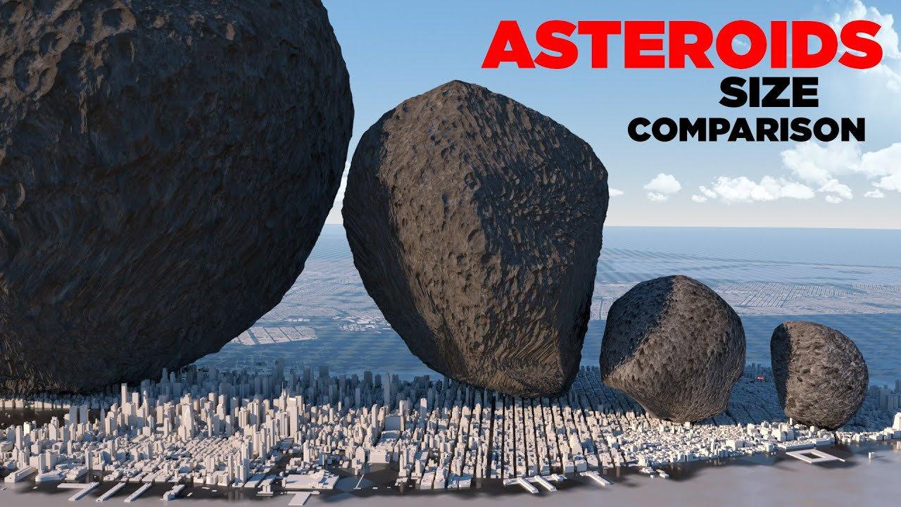 17_asteroyd Астероїди в земному екстер'єрі: астероїди Сонячної системи порівняли зі спорудами Землі (ВІДЕО)