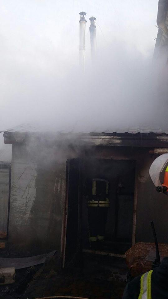 Gost-kotelnya-2 Пожежа у Гостомелі: вогонь охопив котельню в житловому будинку