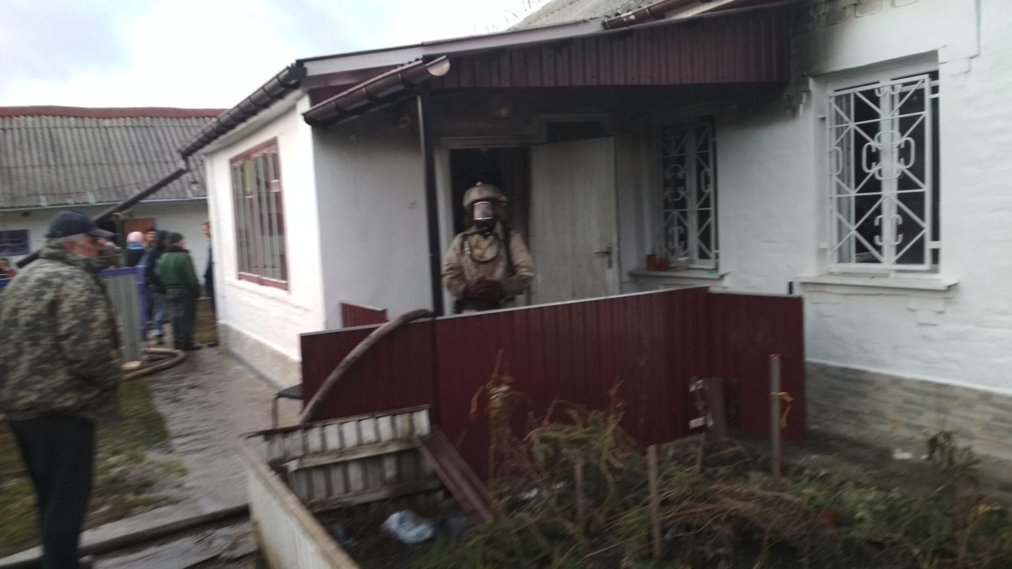 У Ставищенському районі сталася пожежа житлового будинку
