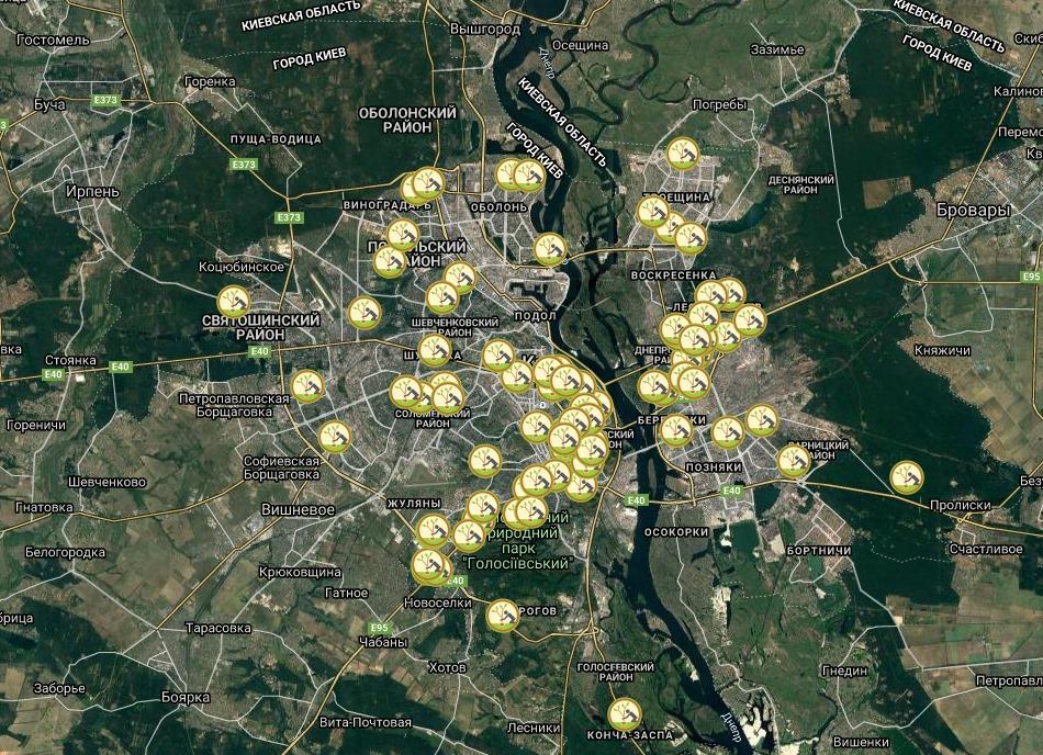 У Києві створили інтерактивну мапу з висадки дерев - Київ, інтерактивна мапа, висадка дерев - 04 kyev
