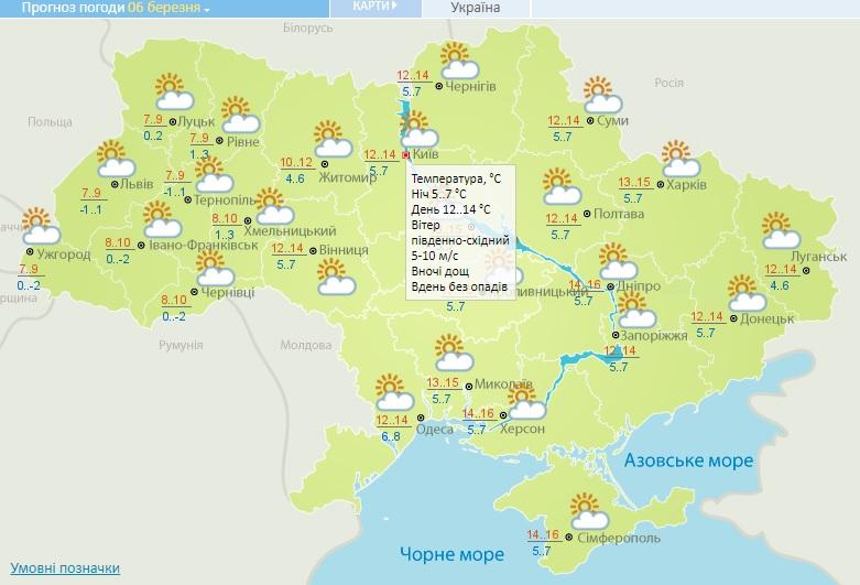 Хмарно з проясненнями та туман: погода на 6 березня на Київщині - погода - 06 pogoda