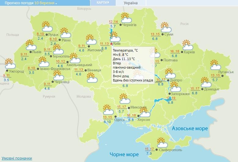 10 березня на Київщині туман та похмура погода - прогноз погоди, погода - 10 pogoda3