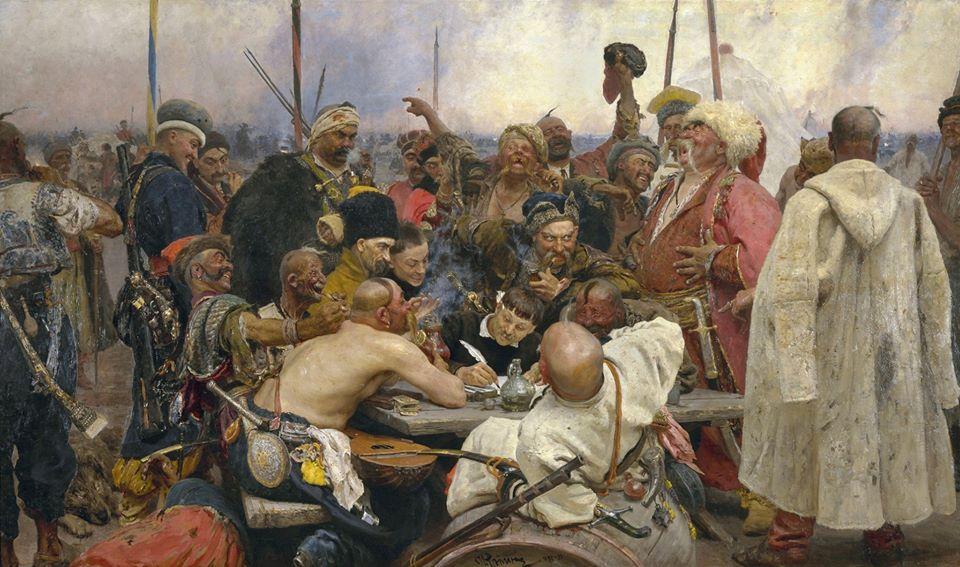"""Хто вони - герої картини Іллі Рєпіна """"Запорожці пишуть листа турецькому султану"""" -  - 86492285 3039880656058894 6702244384634568704 o"""