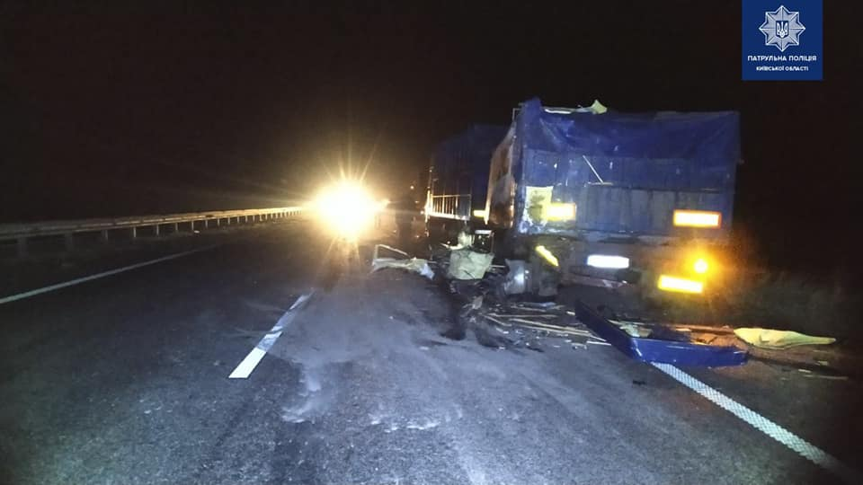 На Переяславщині зіштовхнулися дві вантажівки, люди дивом вціліли -  - 90227930 1703818569791729 1063683955485573120 n