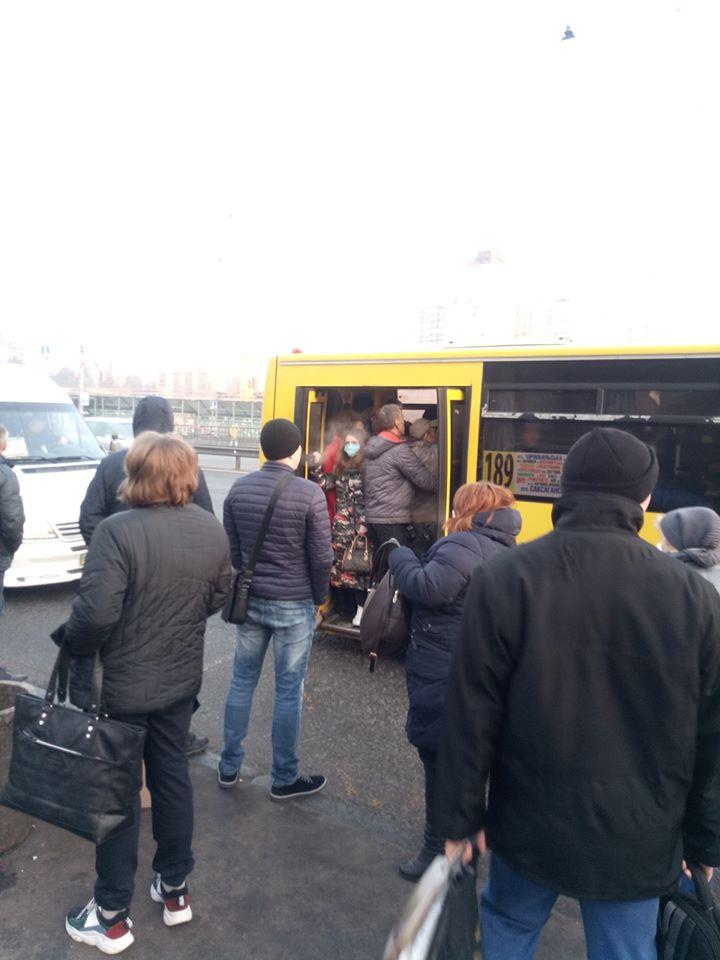 Карантин - не чули: громадський транспорт столиці переповнений - коронавірус, Київ - 90246711 3312684805427148 5768428566458925056 n