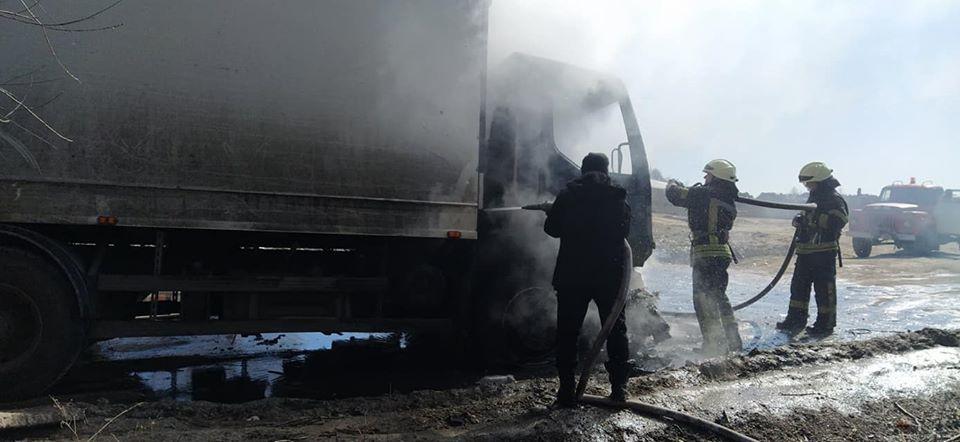 На Броварщині біля сміттєзвалища горіла вантажівка -  - 90254653 1549636591853248 2038958358530097152 o