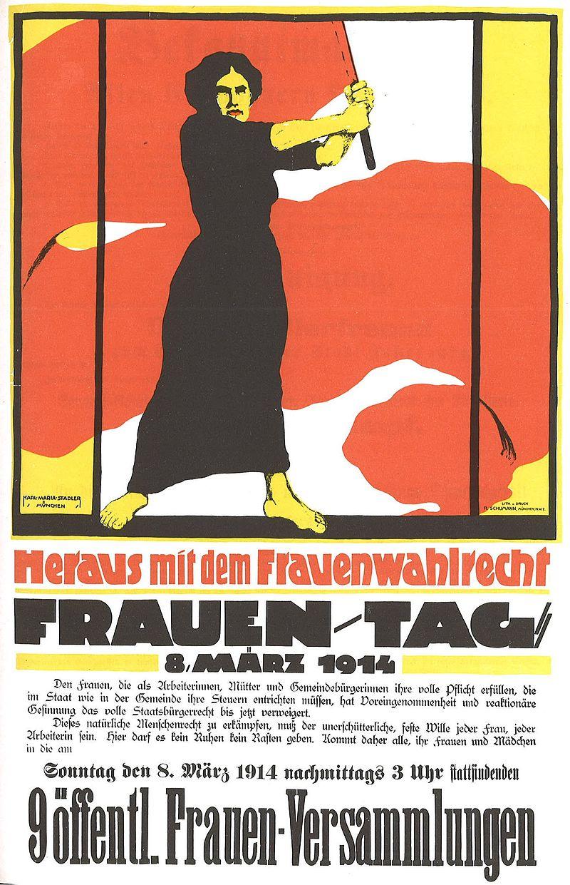 В Україні та світі відзначають Міжнародний жіночий день - Міжнародний жіночий день - Frauentag 1914 Heraus mit dem Frauenwahlrecht