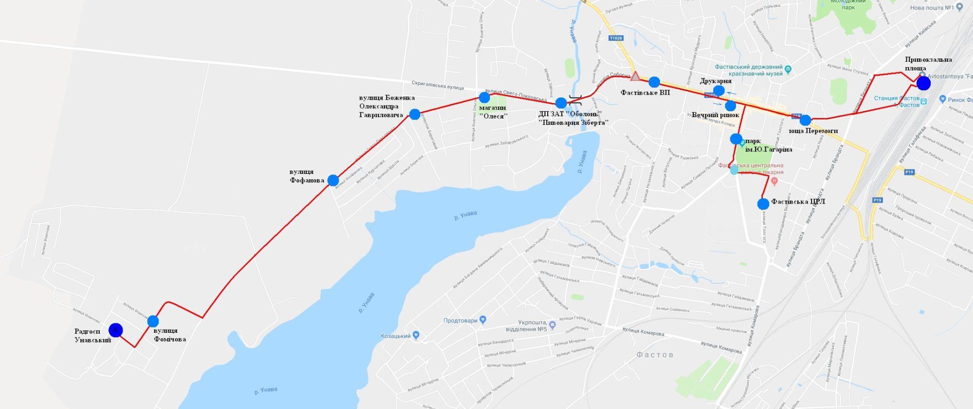 У Фастові оприлюднили уточнений розклад міських перевезень за перепустками - Фастів, карантин - Marshrut 3 2000x842