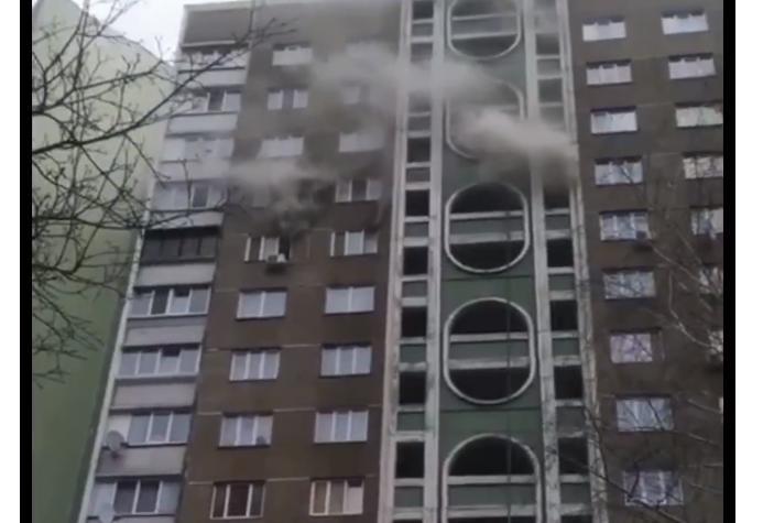 У Києві на Подолі горіла квартира (відео) -  - Novyj rysunok 1 1