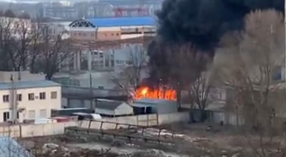 На Торгмаші у Броварах сталася пожежа