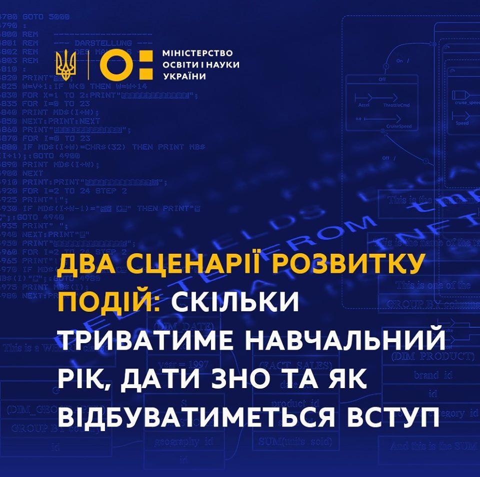 Два сценарії завершення навчального року - Україна, Освіта, МОН, коронавірус, ЗНО, завершення навчального року - dva stsenariyi r