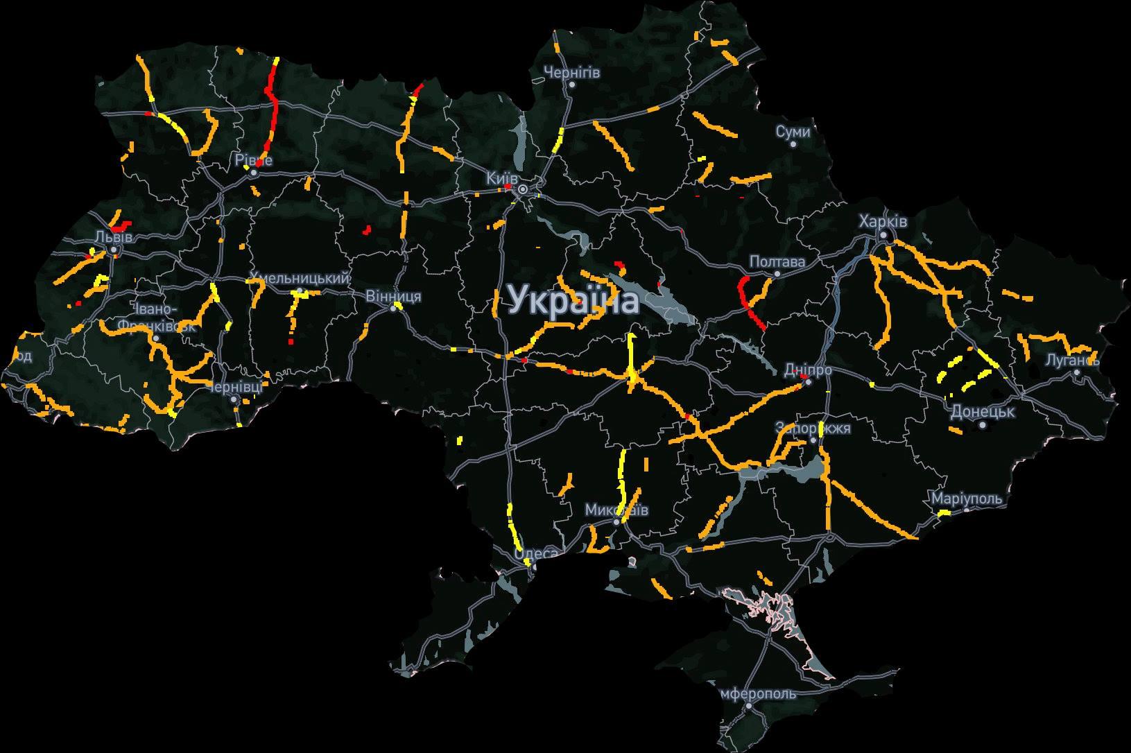 Наочна карта ремонту доріг в Україні - Україна, карта, дороги - karta dorig
