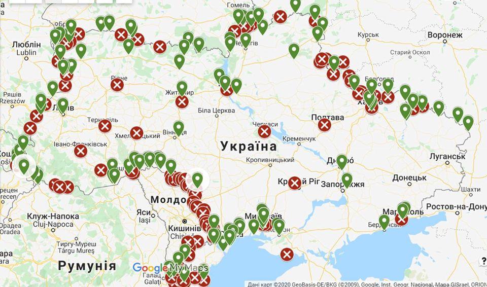 Як в'їхати в Україну з-за кордону (інтерактивна карта) - Україна, Митниця, коронавірус - mytnytsya