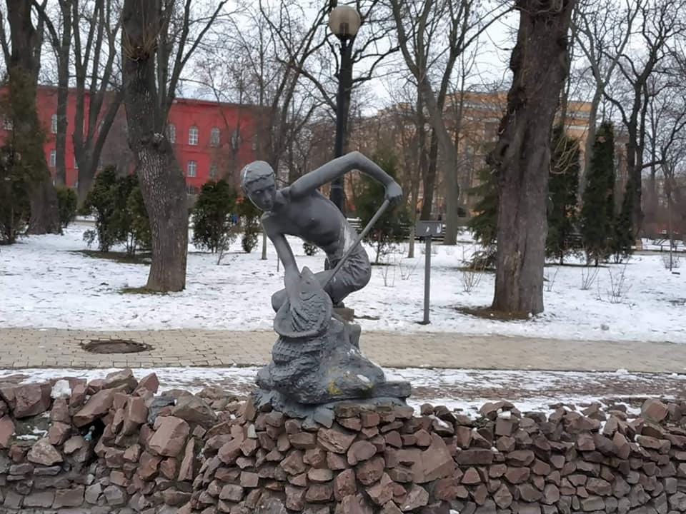 Скульптури біля київських фонтанів - київщина, Київ, історія - skul6