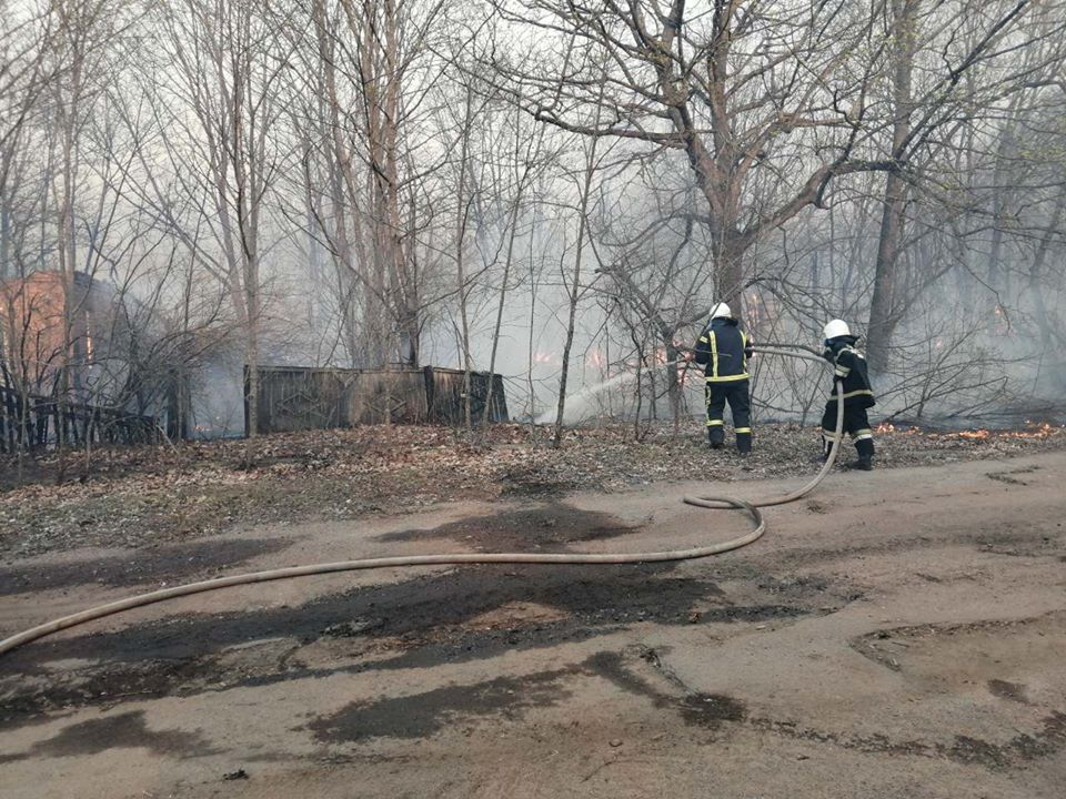 Боротьба з лісовими пожежами в зоні ЧАЕС (ФОТО) -  - 024