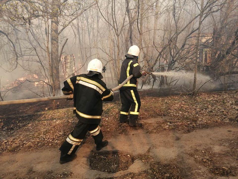 Боротьба з лісовими пожежами в зоні ЧАЕС (ФОТО) -  - 025
