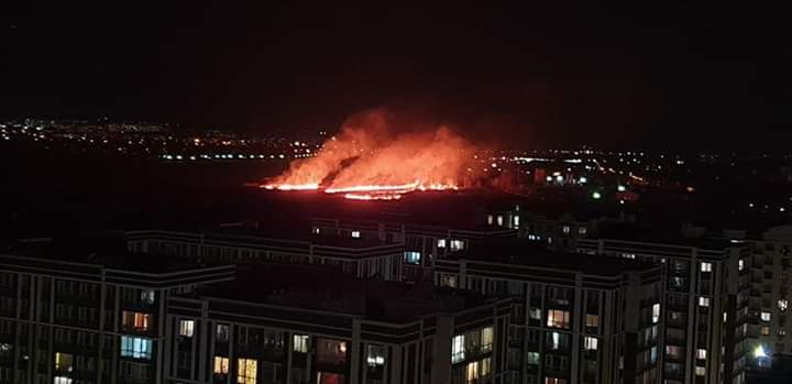 З'явилися подробиці масштабної пожежі між Ірпенем і Бучею -  - 11111