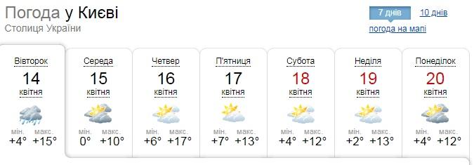 Київщину посеред весни засипає мокрим снігом (ВІДЕО) - сніг, погода - 14 sneg