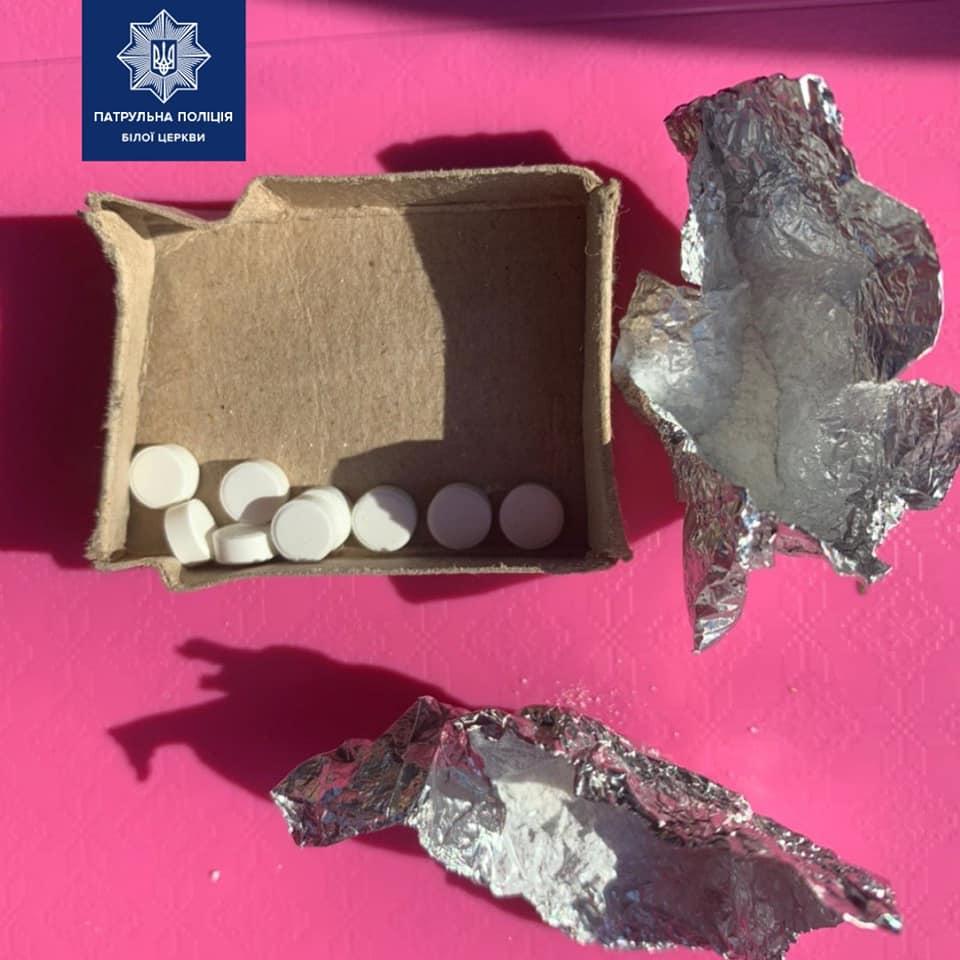 Біла Церква: у жінки, що підозріло поводилась, виявили наркотики - Патрульна поліція Білої Церкви, наркотики - 91484260 1621189638048090 8462392273970135040 n