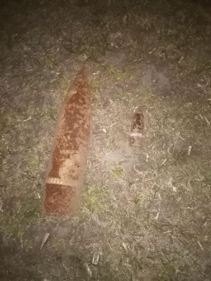 На Броварщині виявлено мінометну міну та артилерійські снаряди -  - 92402090 1566587426824831 5872067248297869312 n