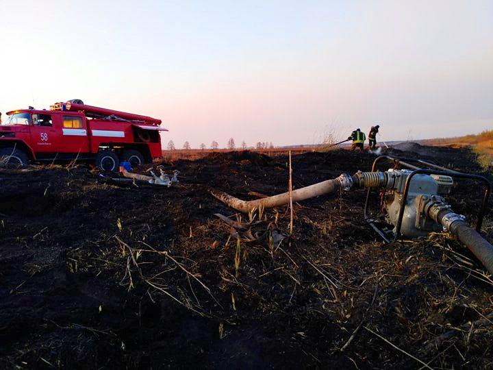 На Київщині після масштабної пожежі сухостою п'ять днів гасили пожежу на торфовищах (ВІДЕО) - торфовище, пожежа - 92812273 259495438557648 105588068710350848 n