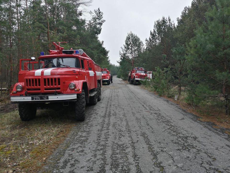 У зоні відчуження ЧАЕС гасять тліючі пеньки та деревину в осередках пройдених вогнем -  - 93473676 3166689323349874 7976449001106964480 o