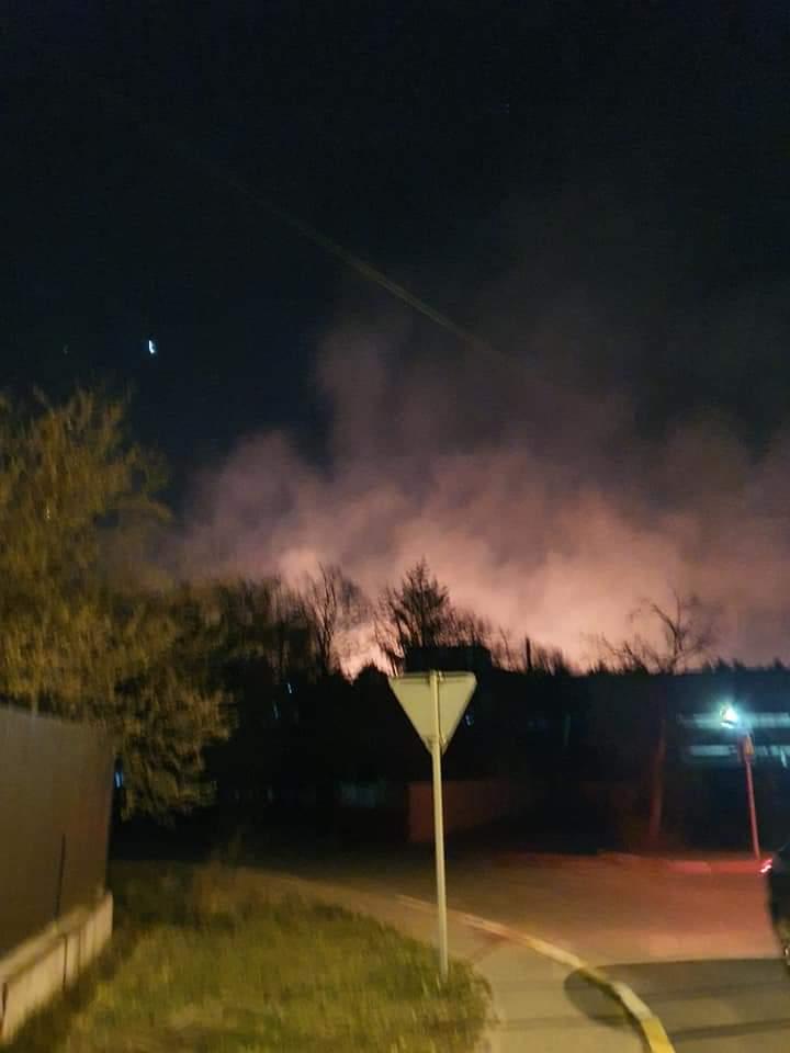Велика пожежа: біля заправки між Ірпенем і Бучею горіло поле -  - FB IMG 1585802830068