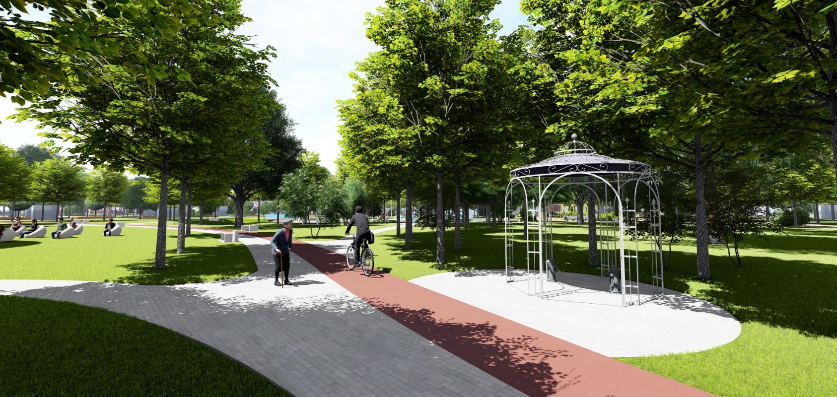У Фастові оприлюднили проєкт реконструкції міського парку імені Гагаріна - Фастів, реконструкція, парк імені Гагаріна - Park12