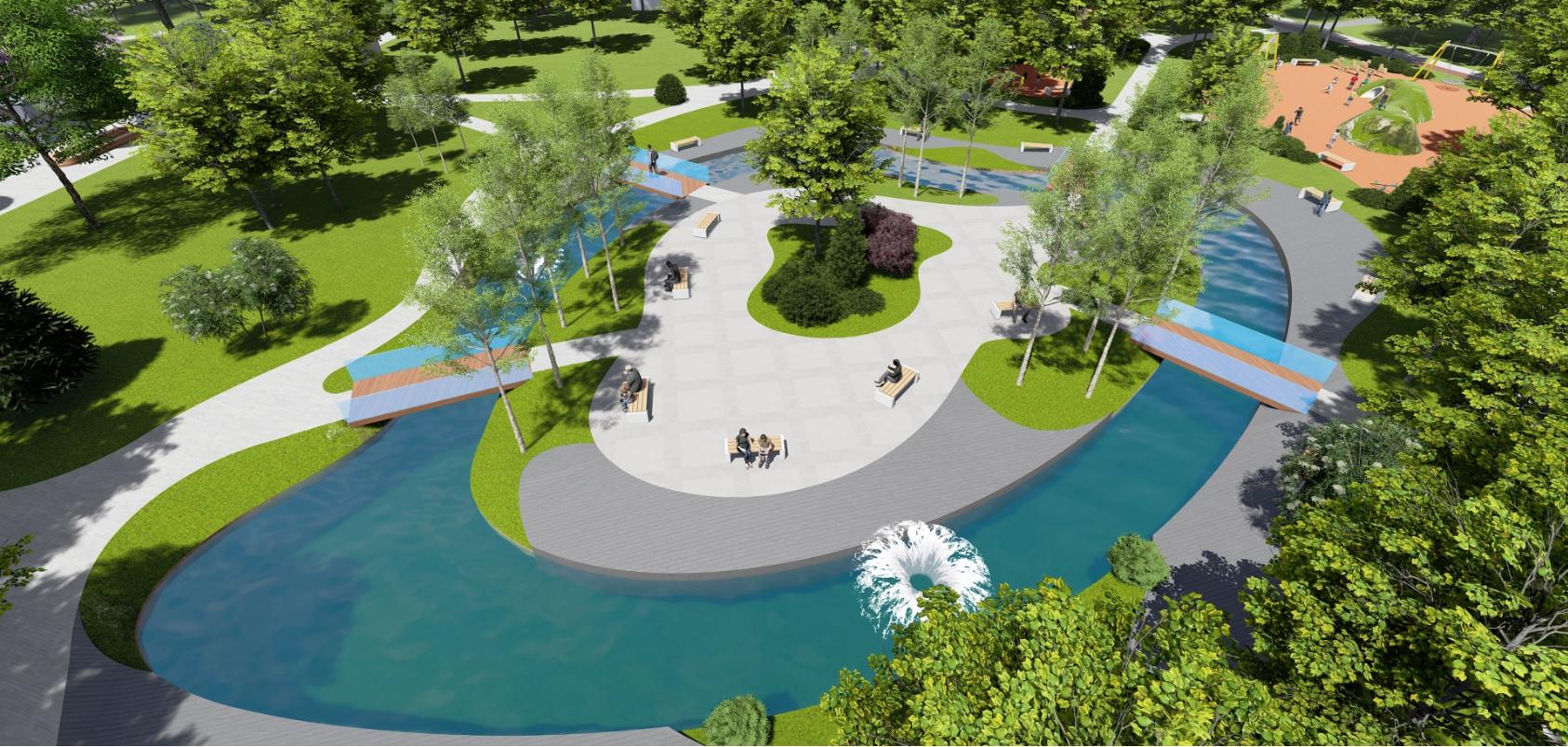 У Фастові оприлюднили проєкт реконструкції міського парку імені Гагаріна - Фастів, реконструкція, парк імені Гагаріна - Park14
