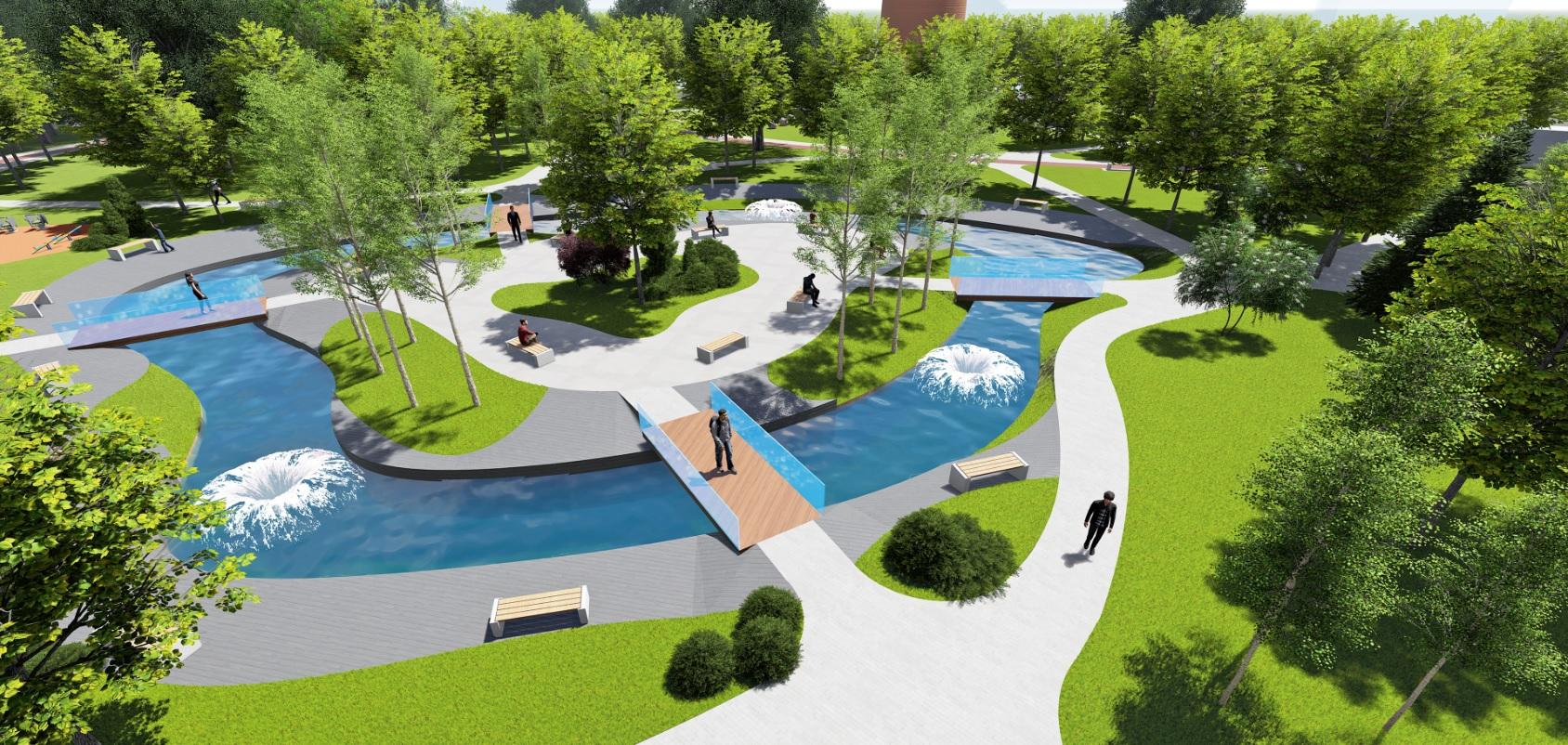 У Фастові оприлюднили проєкт реконструкції міського парку імені Гагаріна - Фастів, реконструкція, парк імені Гагаріна - Park5