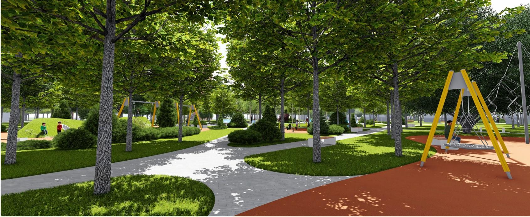 У Фастові оприлюднили проєкт реконструкції міського парку імені Гагаріна - Фастів, реконструкція, парк імені Гагаріна - Park8