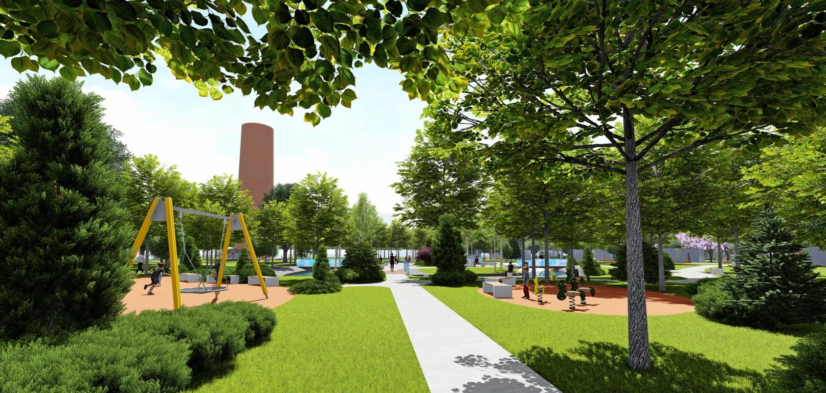 У Фастові оприлюднили проєкт реконструкції міського парку імені Гагаріна - Фастів, реконструкція, парк імені Гагаріна - Park9