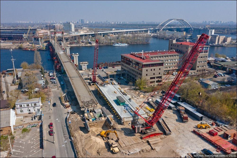 У Києві демонтують міст на Подолі - поділ - Podilmist2