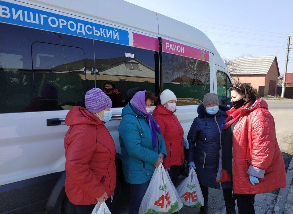 Rud2 На Вишгородщині соціально незахищені люди отримують продуктові набори