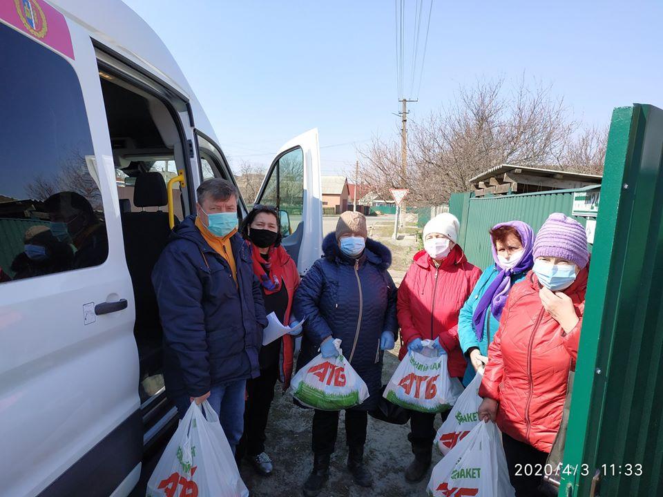 Rud4 На Вишгородщині соціально незахищені люди отримують продуктові набори