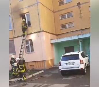 В Борисполі горіла квартира через замикання електропроводки -  - Screenshot 2
