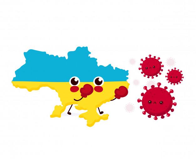 Майже пів тисячі: кількість нових випадків COVID-19 в Україні росте - коронавірус - cute ukraine fight with coronavirus infection flat style cartoon character illustration 92289 996