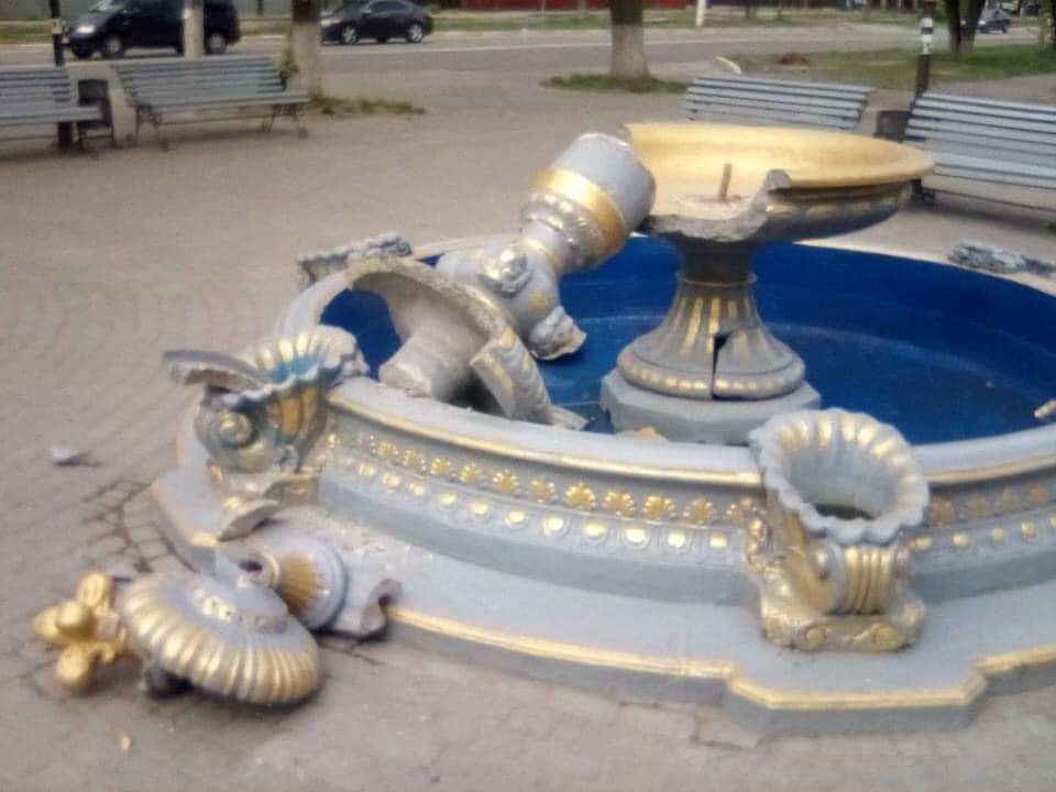 У Боярці зруйнували фонтан - фонтан, Боярка - fontan