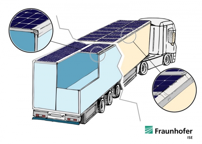 У Німеччині почнуть випробовувати вантажівки на сонячних батареях - сонячні батареї, вантажівки - lade pv 1