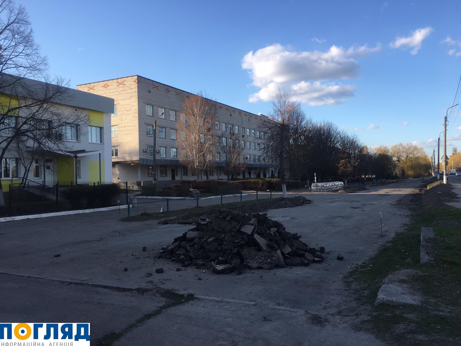 Замість вибоїн – парковка біля лікарні Василькова - Васильків - zobrazhennya viber 2020 03 31 18 12 06