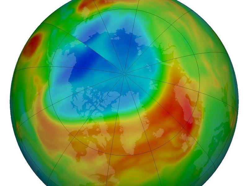 Озонова діра над Арктикою майже зникла - озонова діра, Антарктида - 03 azon