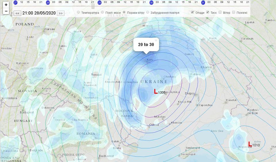 До України наближається циклон: дощитиме три дні - циклон, погода - 27 tsyklon3