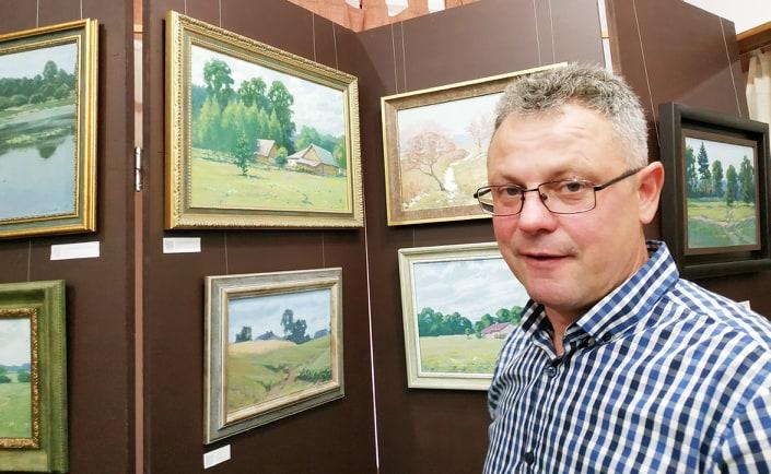 У Вишгородському музеї відкрилась виставка картин з QR-підказками - Олег Катеринюк, Музей давньоруського гончарства, київщина, ВІКЗ, Вишгород, виставка - Katerynyuk1