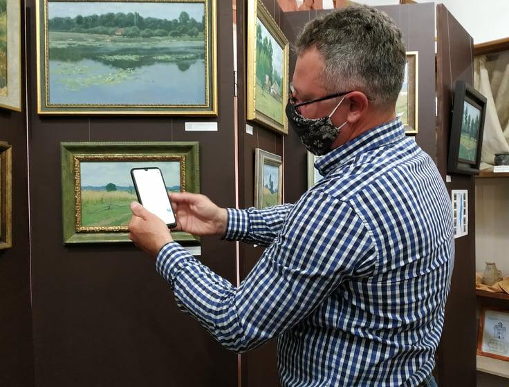 У Вишгородському музеї відкрилась виставка картин з QR-підказками - Олег Катеринюк, Музей давньоруського гончарства, київщина, ВІКЗ, Вишгород, виставка - Katerynyuk5