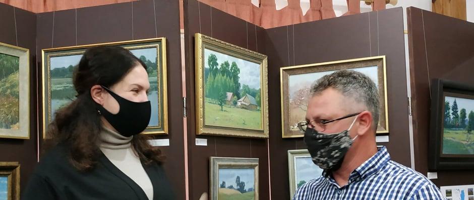 У Вишгородському музеї відкрилась виставка картин з QR-підказками - Олег Катеринюк, Музей давньоруського гончарства, київщина, ВІКЗ, Вишгород, виставка - Lyyyt