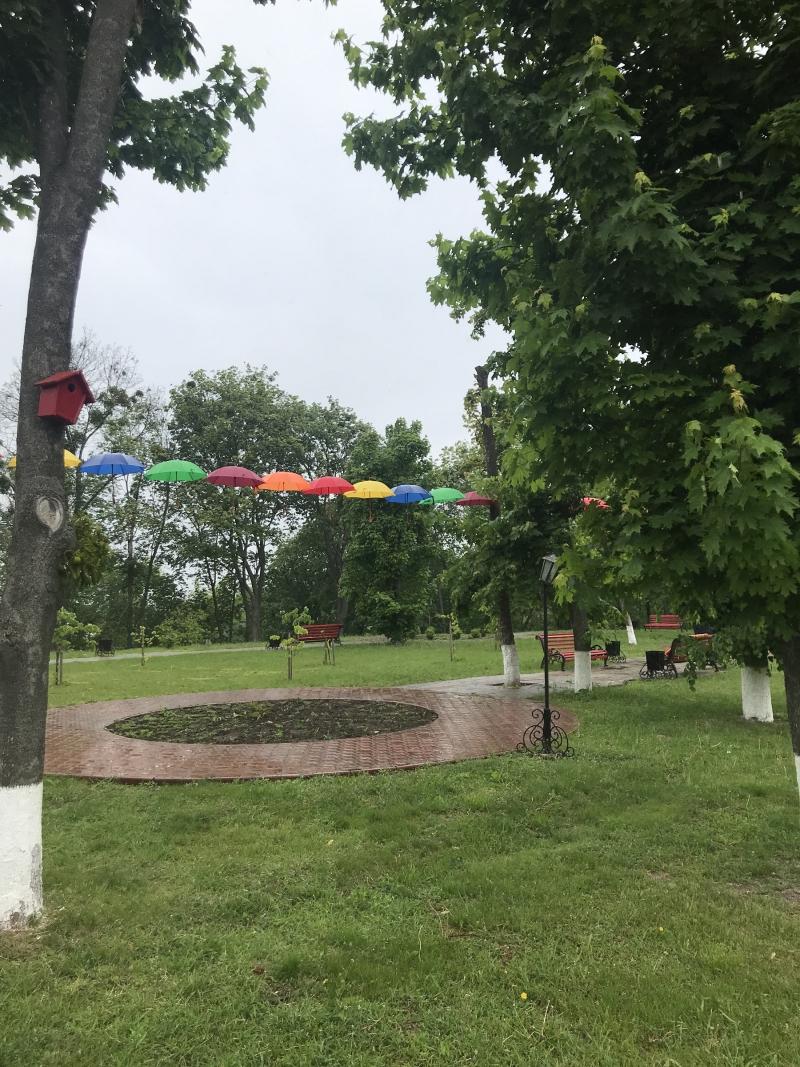 Літаючі парасольки в Яготині: у міській алеї – нова інсталяція - Яготинський район, Яготин, київщина - Yagotyn parasol 1