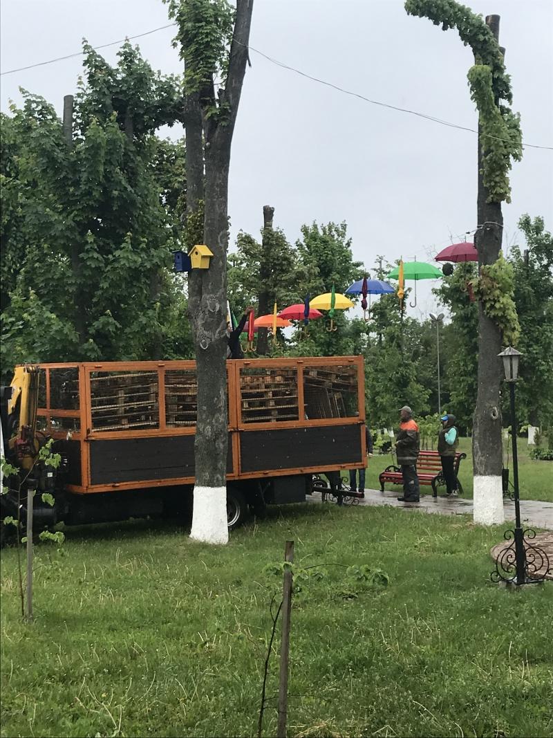 Літаючі парасольки в Яготині: у міській алеї – нова інсталяція - Яготинський район, Яготин, київщина - Yagotyn parasol 3