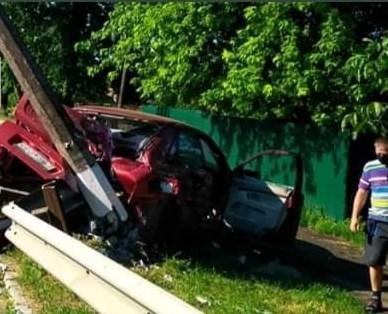 У Яготині водій збив електроопору -  - 105490756 3060447663990315 8760004282922943929 n
