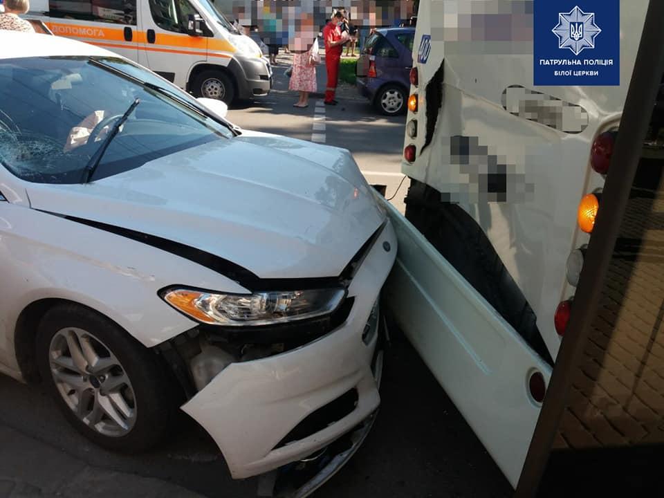 ДТП у Білій Церкві: зіткнулись дві автівки та автобус, збита жінка - ДТП, Біла Церква - 106033340 1699455366888183 9131714820909440792 n